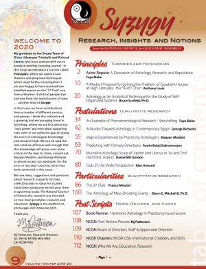 NCGR Research Journal - Winter 2019-20 - Preview